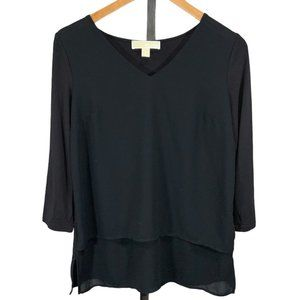 Michael by Michael Kors Mixed media layered Top